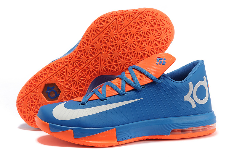 Nike Kevin Durant KD 6 VI Royal Blue Orange-White For Sale