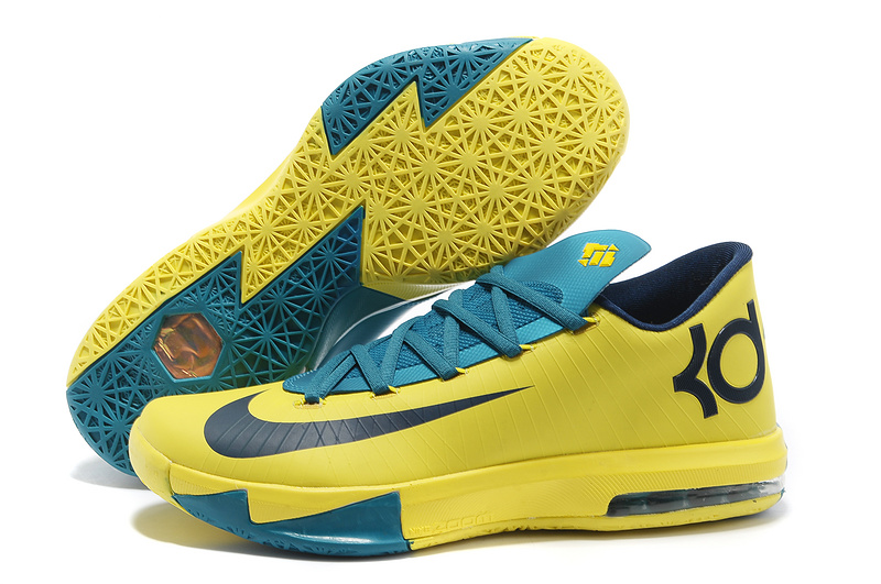 Nike Kevin Durant KD 6 VI Seat Pleasant Yellow Teal For Sale