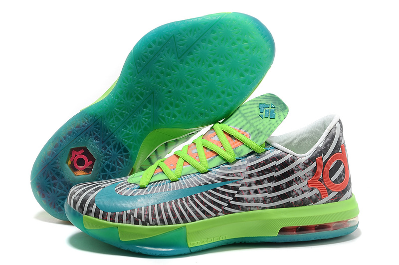 Nike Kevin Durant KD 6 VI Supreme DC Preheat Gamma Blue Dusty Grey-Flash Lime