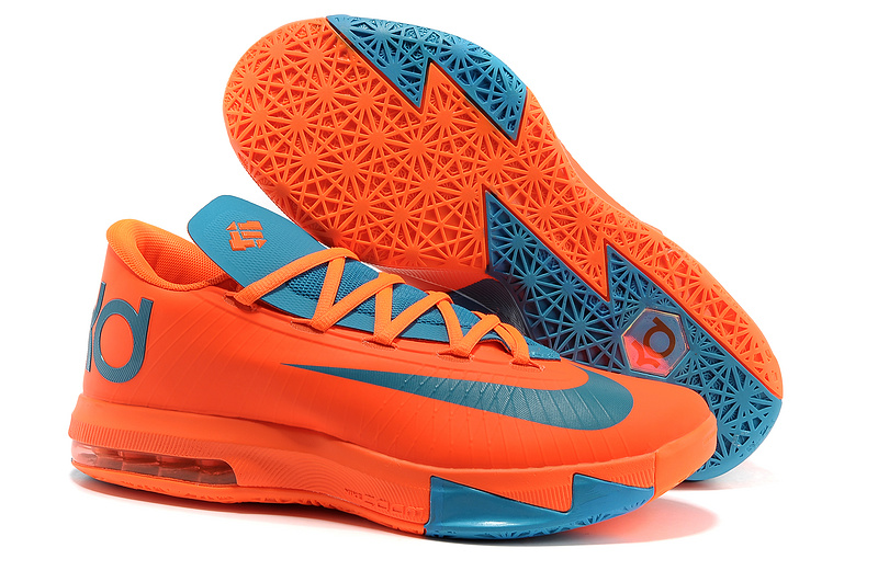 Nike Kevin Durant KD 6 VI Total Orange Neo Turquoise For Sale