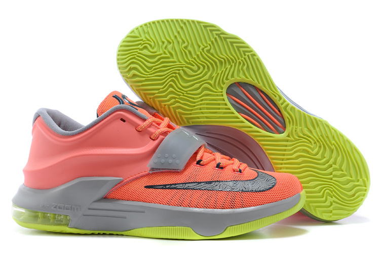 Nike Kevin Durant KD 7 VII 35000 Degrees Bright Mango Space Blue Light Magnet Grey For Sale