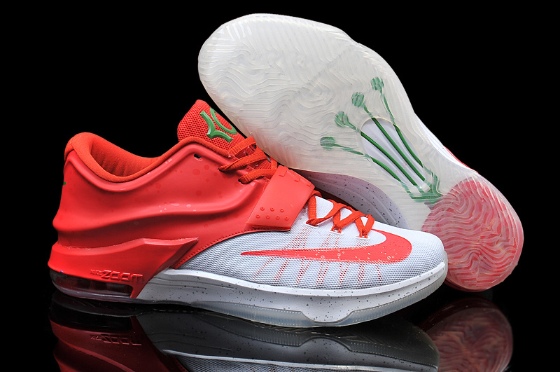 Nike Kevin Durant KD 7 VII Christmas Egg Nog White Red For Sale Online