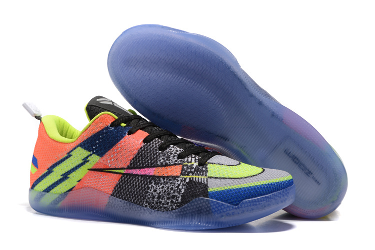 Nike Kobe 11 EM Mambacurial Pink Flash Action Green-Red Plum 2016