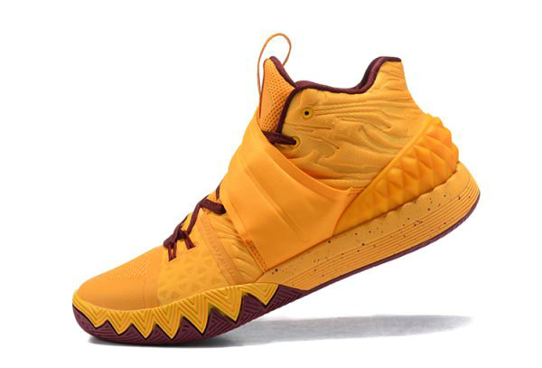 Cheap Nike Kyrie S1 Hybrid Cavs Yellow Wine Red Basketball Shoes