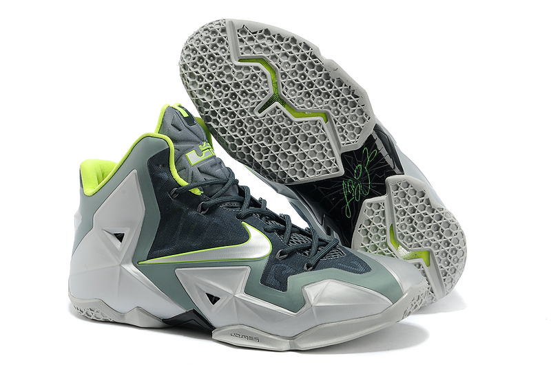 Nike LeBron 11 Dunkman Mica Green Sea Spray-Dark Mica Green-Volt