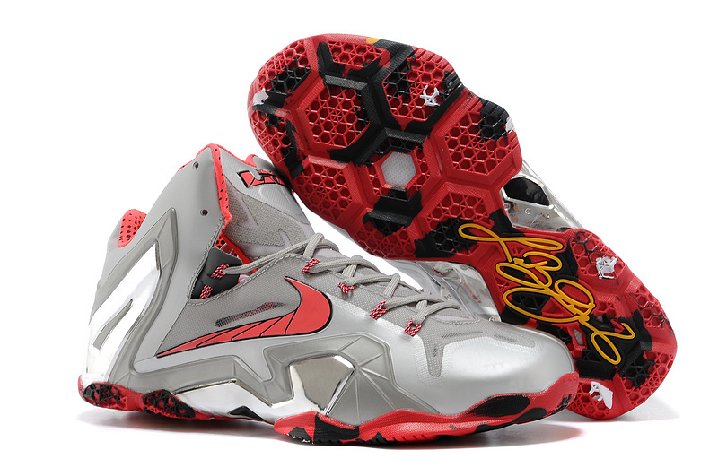 Nike LeBron 11 Elite Team Wolf Grey Crimson-Cool Grey-Black For Sale