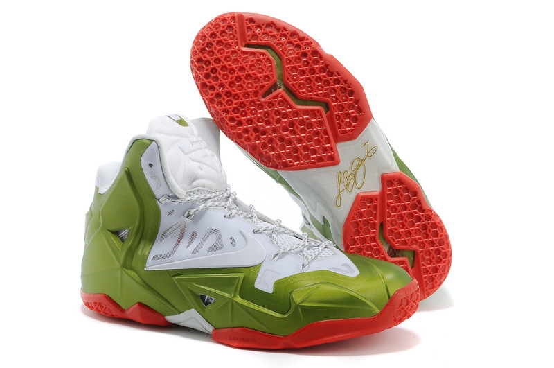Nike LeBron 11 Gold Medalist White Gold Medal-Red For Sale