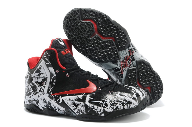 Nike LeBron 11 Graffiti White University Red-Black For Sale