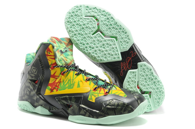 Nike LeBron 11 Kings Ring Black-Yellow Red Maple For Sale