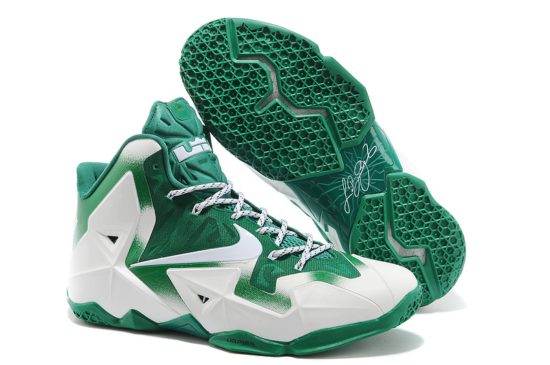 Nike LeBron 11 Michigan State PE White Green For Sale
