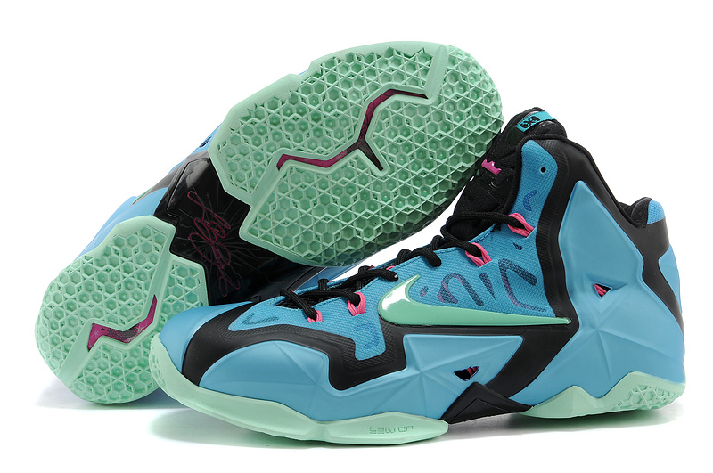 Nike LeBron 11 South Beach Turquoise Black-Pink-Mint For Sale