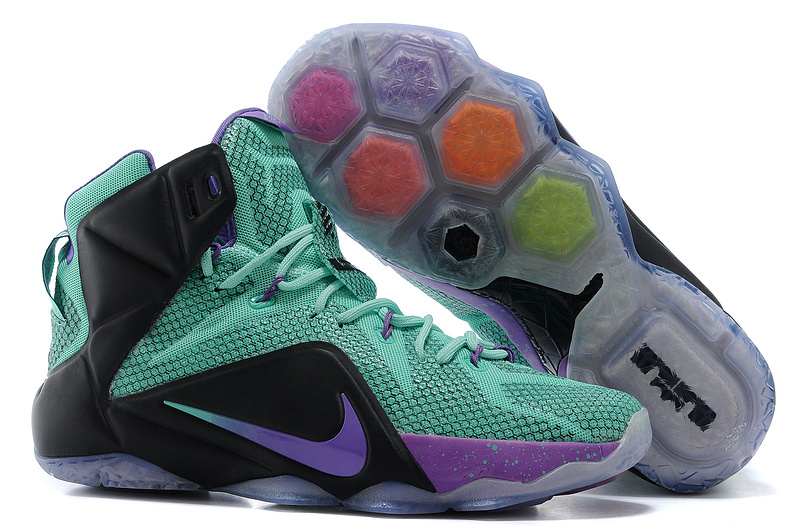 Nike LeBron 12 Teal Court Purple-Black For Sale