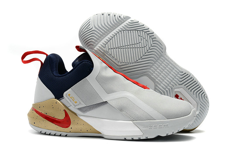 Cheap Nike LeBron Ambassador 11 AO2920-002 White Red Navy Blue Wheat