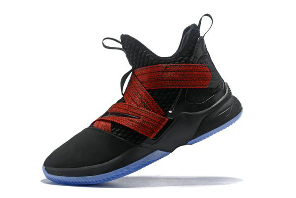 Cheap Nike LeBron Soldier 12 Red Straps Black Red AO2609-003