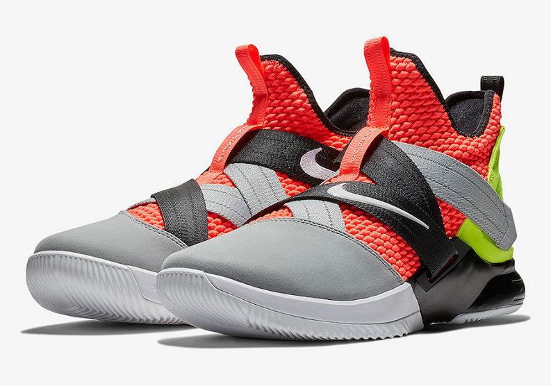 Cheap Nike LeBron Soldier 12 SFG AO4054-800 Hot Lava Black-White