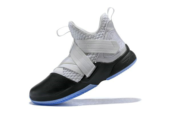 Cheap Nike LeBron Soldier 12 White Black Mens Basketball Shoes