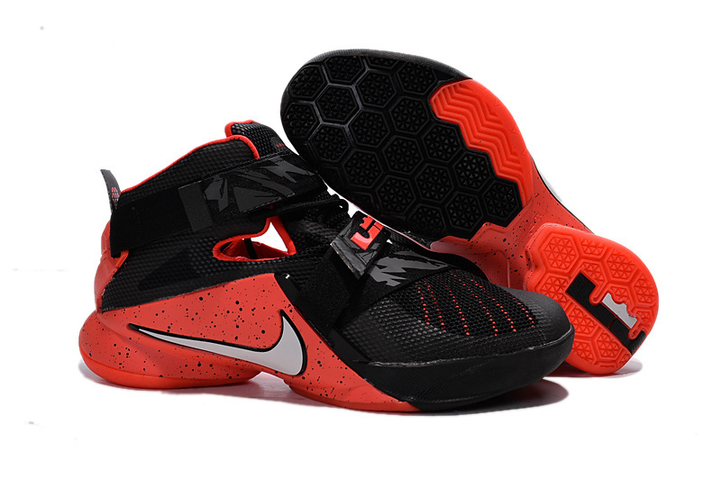 Nike LeBron Soldier 9 Black Red Basketball Shoe