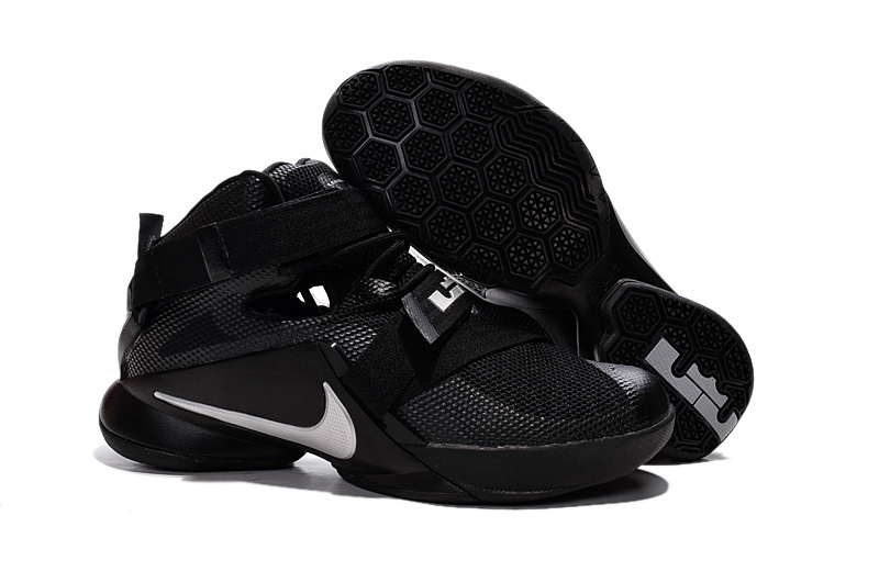 Nike LeBron Soldier 9 Blackout All Black Basketball Shoe