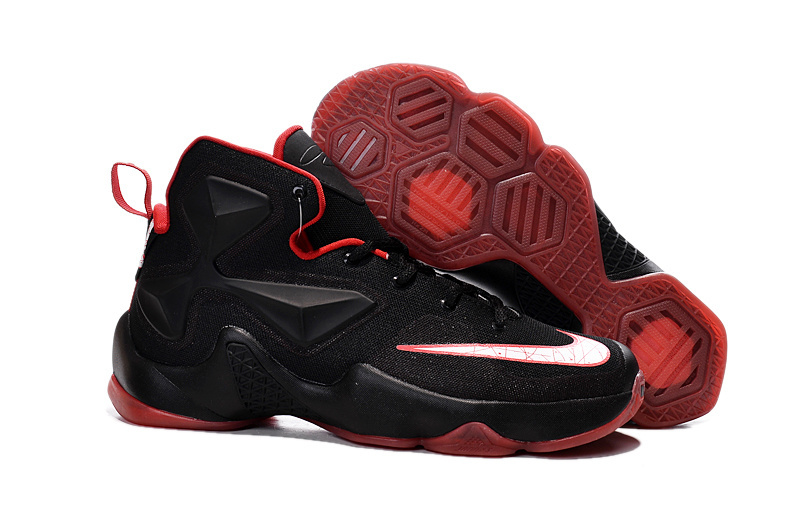 Nike Lebron 13 Black Red Men Basketball Shoes For Cheap