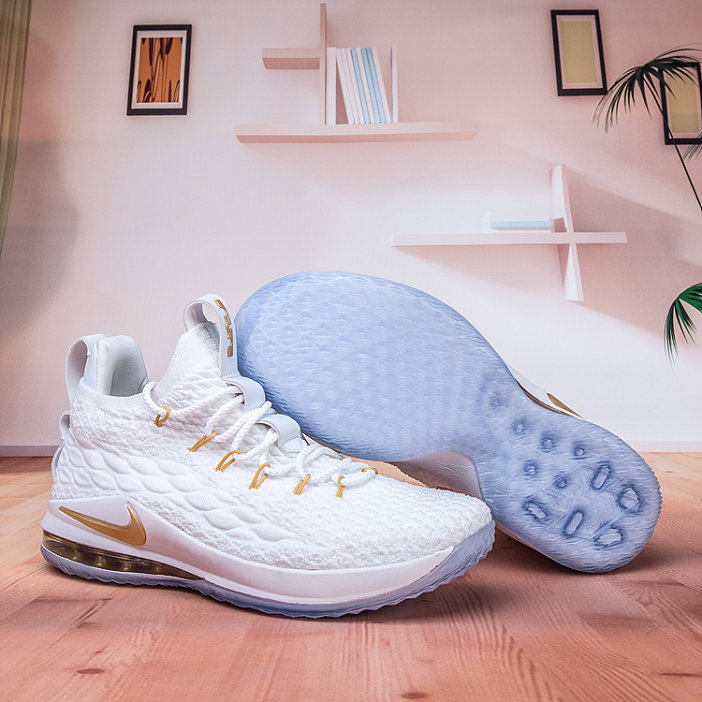 the best attitude 94108 d4139 Nike Lebron James 15 Low Cheap Gold White - Cheap Nike Air ...