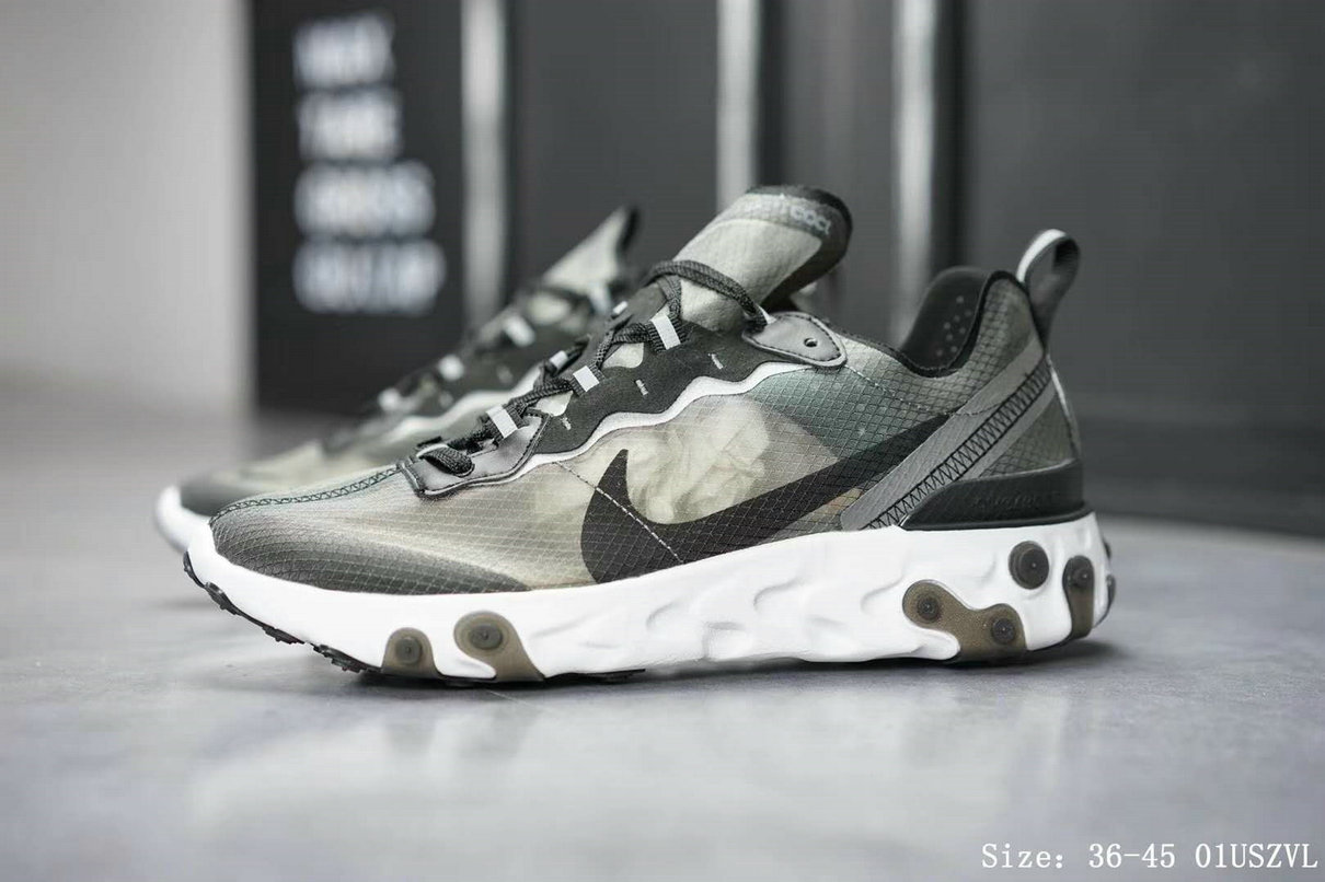Nike React Element 87 Mens Womens Grey Black White Release Date