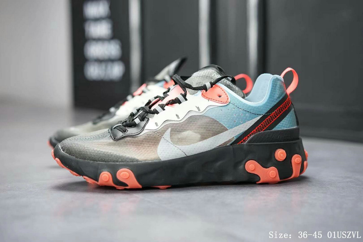 Nike React Element 87 Mens Womens Releasing In Blue Chill And Solar Red