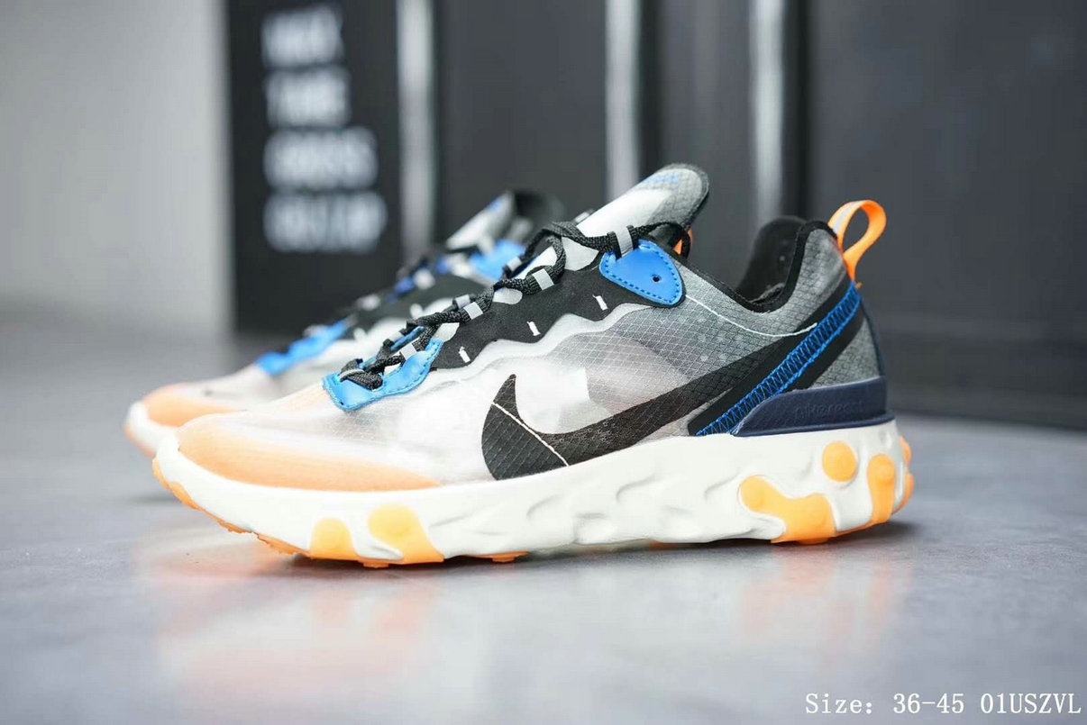 Nike React Element 87 Mens Womens Releasing In Thunder Blue And Total Orange