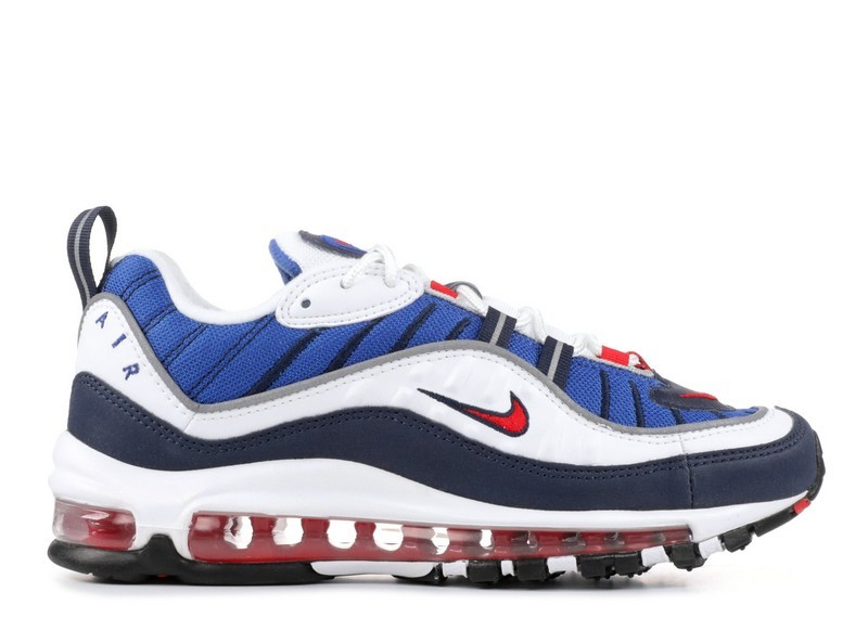 Cheap Nike Wmns Air Max 98 Og Gundam Ah6799-100 White University Red Obsidian