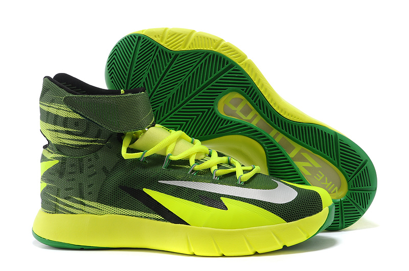 Nike Zoom Hyperrev KYRIE IRVING Black Metallic Silver Electric Green For Sale