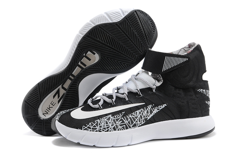 Nike Zoom Hyperrev KYRIE IRVING Black White-Metallic Silver For Sale