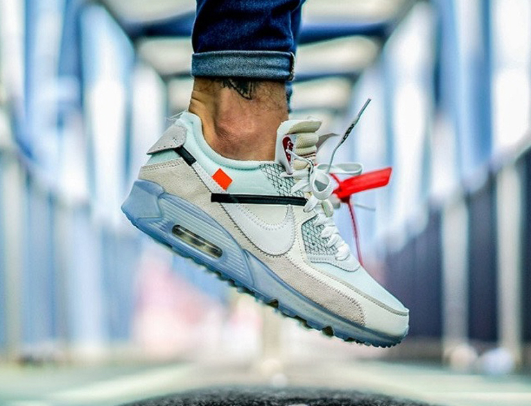 OFF-WHITE x Nike Air Max 90 Sail White-MuslinAA7293-100
