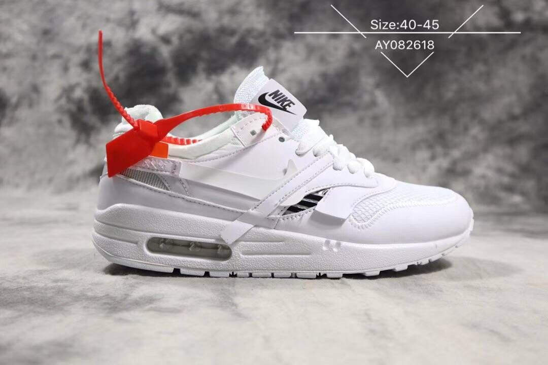 Off-White x Boys Nike Air Max 87 1 Triple White