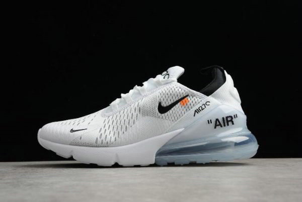 Cheap Off-White x Nike Air Max 270 White Black Mens Running Shoes Free Shipping