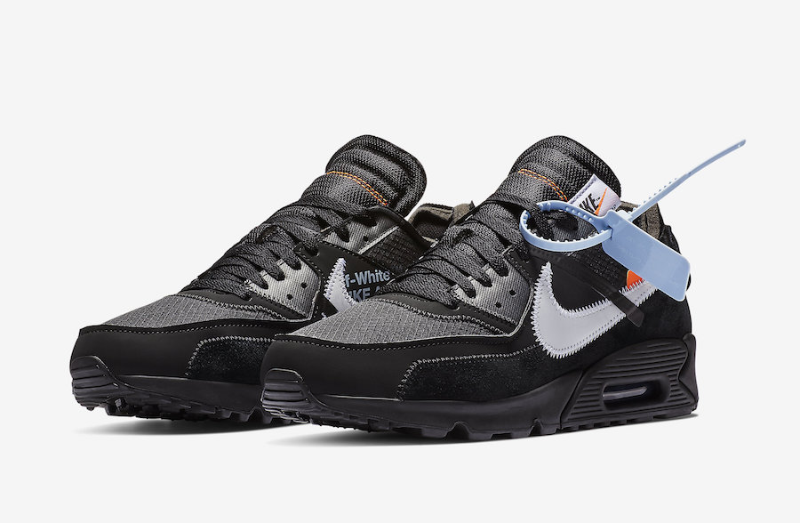 Off-White x Nike Air Max 90 Black-Cone-White-Black AA7293-001