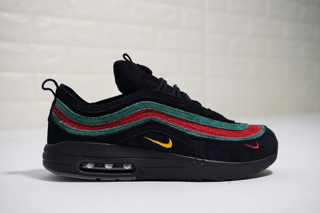 Original Sean Wotherspoon X Nike Airmax 87 Black Green