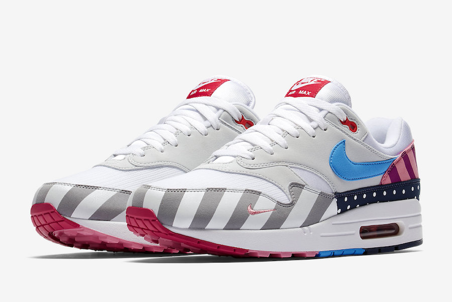 Parra x Nike Air Max 1 White-Pure Platinum AT3057-100