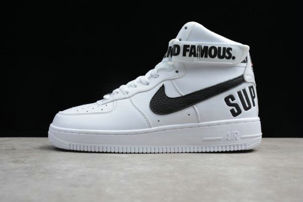 Cheap Supreme x Nike Air Force 1 High White Black For Sale