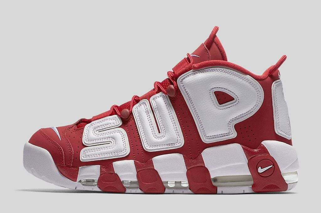 Supreme x Nike Air More Uptempo Varsity Red White 2017 For Sale