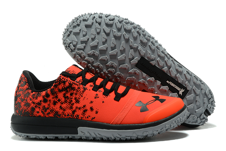 UA Fat Tire Low Orange Black Running Shoes For Sale