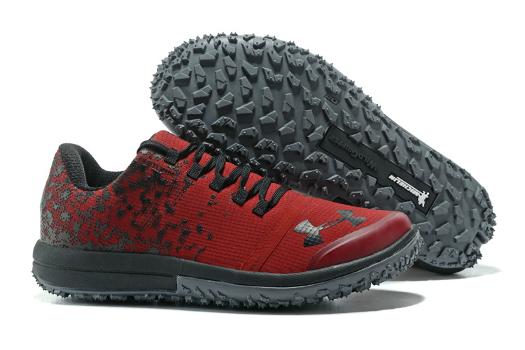 UA Fat Tire Low Red Black Running Shoes For Sale