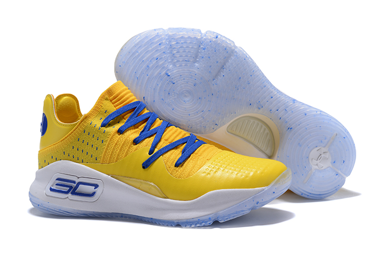 3c246f3d4359 Under Armour Curry 4 Low Warriors Yellow Royal Blue For Sale - Cheap ...