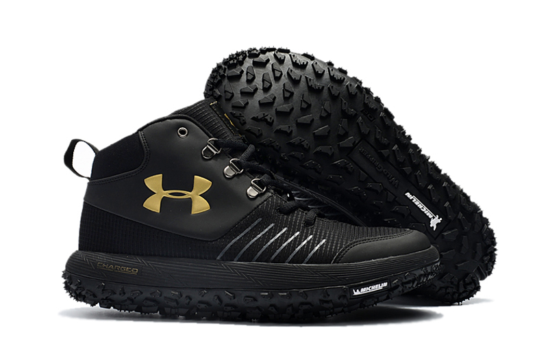 Under Armour UA Fat Tire GTX Black Gold Trail Running Shoes For Sale