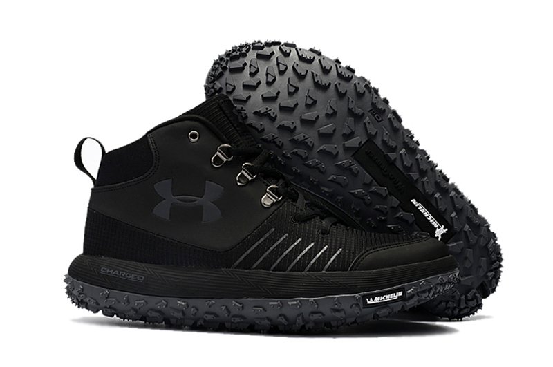 Under Armour UA Fat Tire GTX Triple Black Trail Running Shoes For Sale