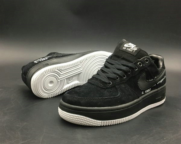 Cheap Virgil Abloh x Off-White x Nike Air Force 1s Black For Sale