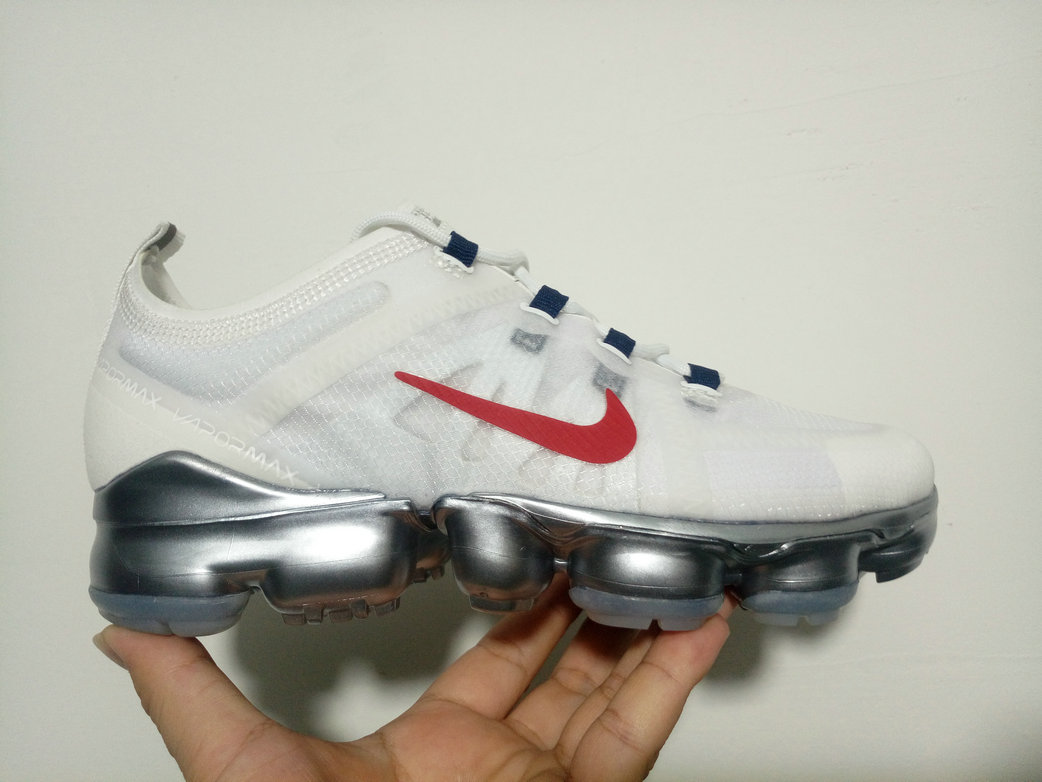 Cheap WMNS Nike Air Max 2019 x VaporMax White Red Silver