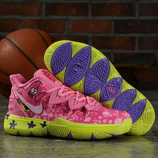 Where To Buy 2019 Womens Cheap Kyrie 5 SBSP Patrick Star Hyper Pink Green