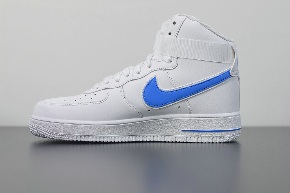 Where To Buy 2019 Womens Cheap Nike Air Force 1 High 07 3 White blue AT4141-102