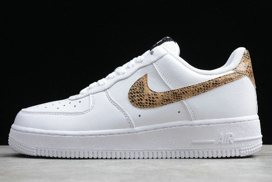 Where To Buy 2019 Womens Cheap Nike Air Force 1 Low Retro Ivory Snake On Sale AO1635-100