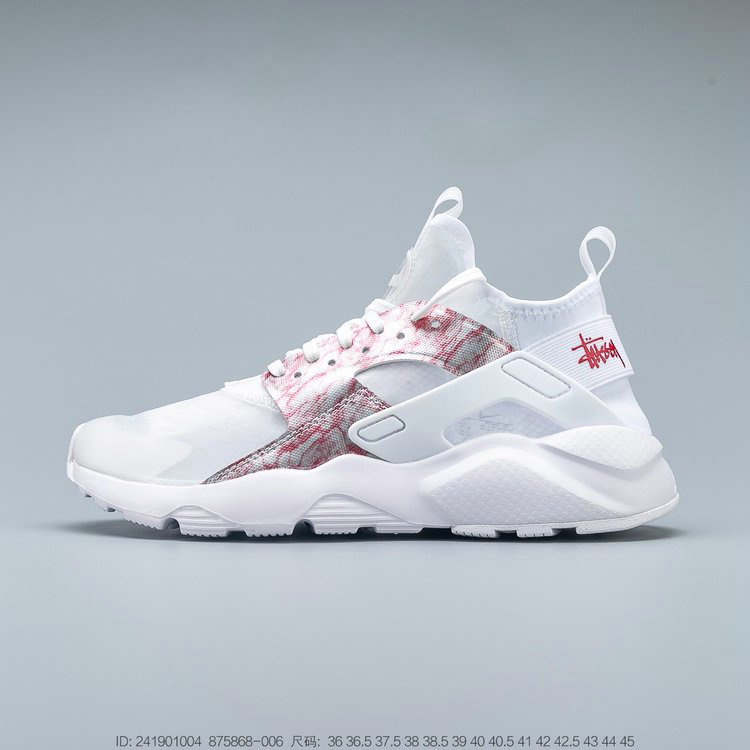 Where To Buy 2019 Womens Cheap Nike Air Huarache Run Premium Grey Pink White Gris Blanc Rose 875868-006