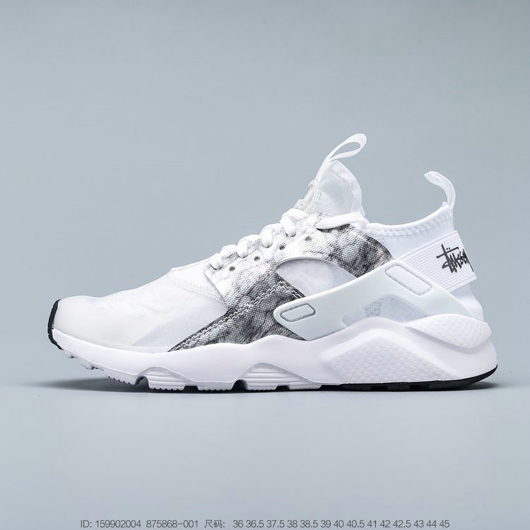 Where To Buy 2019 Womens Cheap Nike Air Huarache Run Premium Grey White Black Gris Blanc Noir 875868-001